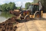 Дорожное строительство. Усиление плотины.