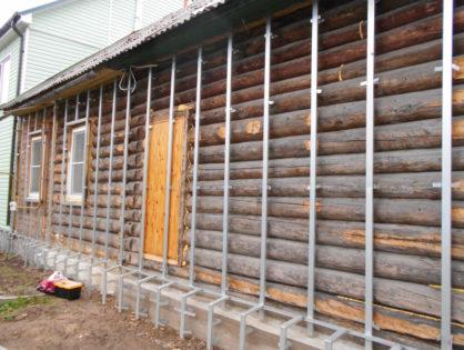 Утепление фасада деревянного дома.